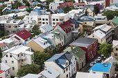 Bird View Of Downtown Reykjavik
