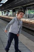 Child In The Train Station