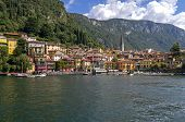 View Of The Town Of Varenna, Italy.