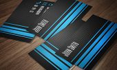 foto of grids  - Business card template  - JPG