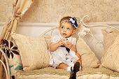 Little Girl In French Dress