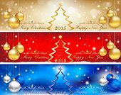 Banner set for Christmas and New Year