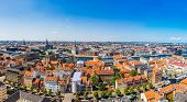 picture of copenhagen  - Large panorama view of Copenhagen in Denmark - JPG