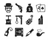 Retro Bad boys icons set  // Dangerous