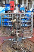 Wire Line Blow Out Preventer For Perforation On The Rig Floor - Oil And Gas Field