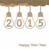 Burlap Happy New Year 2015