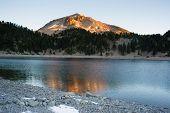 Lassen Peak National Volcanic Park Lake Helen Sunset
