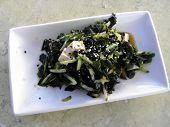 Wakame Salad - cucumber, tofu, wakame seaweed and sesame.
