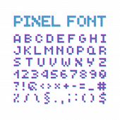 Round Pixel Font, Isolated Vector Letters, Alphabet