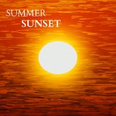 Summer Sunset Background. Vector