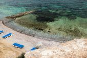 Mediterranean Beach On Greek Telendos Island