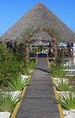Wedding gazebo on the Caribbean coast.