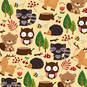animal woodland brown background