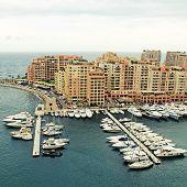 Yacht Pier In Monte Carlo, Cote D'Azur