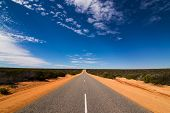 On the road through the western australian outback