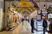 Istambul, Turkey - November 27, 2014: Mall Grand Bazaar (Kapal?çar??) in Istanbul, Turkey