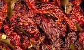 Macro Closeup Background Texture Of Dehydrated Red Kashmiri Chili
