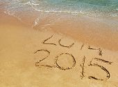 image of new year 2014  - New Year 2015 is coming concept  - JPG