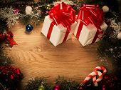 gifts with Christmas decoration