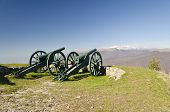 Some cannons near the Shipka monument in the central Bulgaria