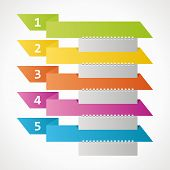 Infographic Banner Ribbons - 5 Steps