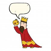 pic of three kings  - one of the three wise men with speech bubble - JPG