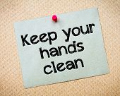 picture of immoral  - Keep Your Hands Clean Message - JPG