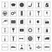 pic of car-window  - Car service icons set car parts set - JPG