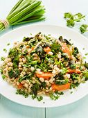picture of nettle  - Boiled pearl barley with nettle carrot and leek - JPG