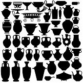 picture of pitcher  - big set vase bowl jug pitcher silhouette - JPG