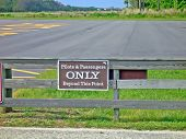 Pilots And Passengers Only Sign