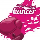 pic of causes cancer  - Breast cancer design over white background  - JPG