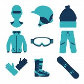 Постер, плакат: Snowboarding design vector illustration