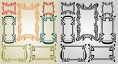 picture of art nouveau  - big set art nouveau frames color and black - JPG