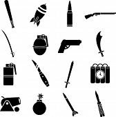 picture of truncheon  - weapons symbols set - JPG