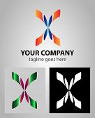 image of letter x  - Letter X logo icon design template elements abstract symbol - JPG