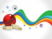 stock photo of cricket shots  - abstract colorful cricket wave background vector illustration - JPG