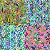 foto of teardrop  - Abstract colorful seamless pattern created from elements teardrop shape - JPG