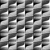 stock photo of diagonal lines  - Design seamless striped decorative pattern - JPG
