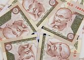 stock photo of gandhi  - Indian currency banknotes  - JPG