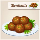 foto of meatball  - Detailed Food Icon - JPG
