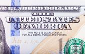 pic of one hundred dollar bill  - Banknote - JPG