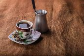 foto of brew  - A cup of coffee on the table - JPG