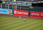 Yankees Brett Gardner Slides In Attempt To Catch Ball In Outfield