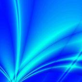Fantasy rays on blue background