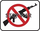 Stop war sign on white background