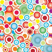 Seamless fun circles background