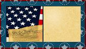 picture of preamble  - Patriotic Textured Background with Antique Paper Copy Space - JPG