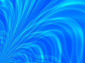 Fractal image of blue water spray for a background.