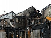 picture of mayhem  - Remains of a fire in Virginia Beach Virginia  - JPG